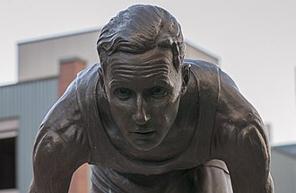 Percy Williams (sprinter) - A close up of the statue of Williams outside of BC Place stadium in Vancouver.