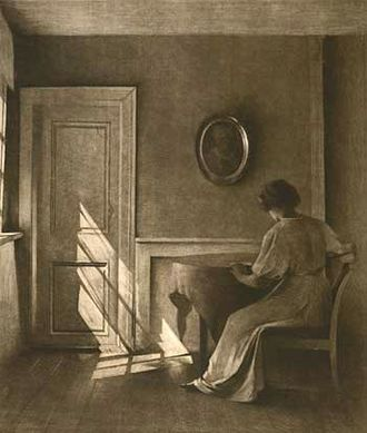 Mezzotint - Sunshine V, mezzotint by Peter Ilsted