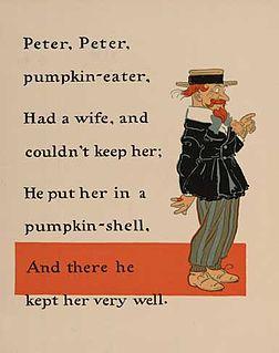Peter Peter Pumpkin Eater English language nursery rhyme