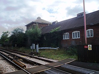 Midhurst Railways - Petersfield Station-The platform to Midhurst was to the north of the gates.
