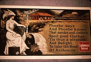 Phoebe Snow (character) - Phoebe Snow advertisement featuring a poem promoting the Lackawanna trains that used clean-burning coal