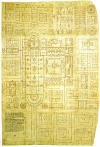 Pianta dell'abbazia di san gallo, 816-830, san gallo, stiftbibliothek.jpg
