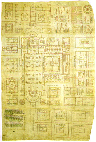 Abbey of Saint Gall - The Plan of St Gall, the only surviving major architectural drawing from the Early Middle Ages
