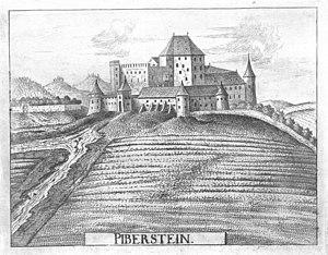 Piberstein um 1674, Stich von G.M.Vischer