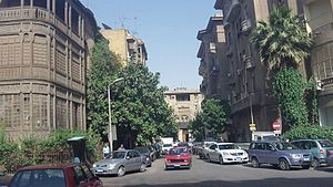 Garden City, Cairo - Picture of a street in Garden City