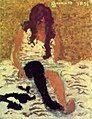 Pierre Bonnard Woman Pulling on her Stockings 1893.jpg
