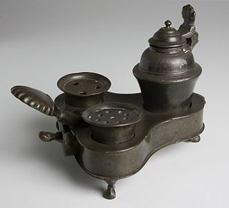 Pieter Teyler van der Hulst - Pieter Teyler's pewter inkstand (depicted on his portrait) is still in the collection of Teylers Museum.