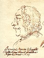 Pietro Paolo Bencini, caricature de Pier Leone Ghezzi, 1734.jpg