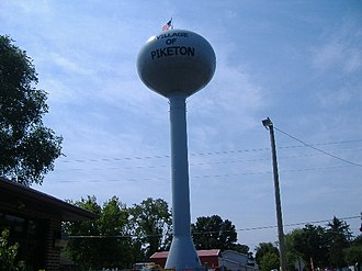 Piketon, Ohio - Image: Piketon, Ohio Water Tower