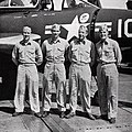 Pilots of VF-24 aboard USS Essex (CVA-9), circa in 1955.jpg