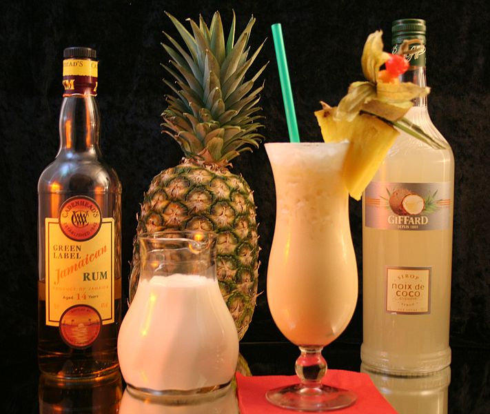 File:Pina Colada with key ingredients.jpg