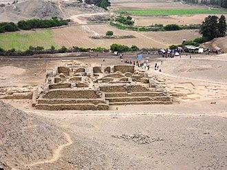 El Paraíso, Peru - Main pyramid at El Paraíso.