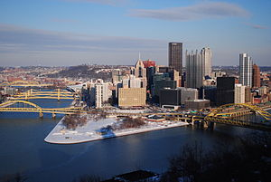 Mount Washington's famous view of downtown Pittsburgh