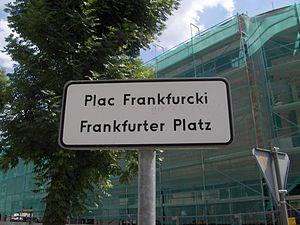 Germany–Poland relations - Frankfurt Square, Słubice