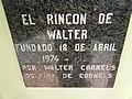 Placa de El Rincon de Walter, Caripe.jpg