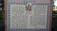 Placa en azulejos que narra la fundación del Barrio de Triana, en el Barrio del Encino, Aguascalientes, Ags.jpg