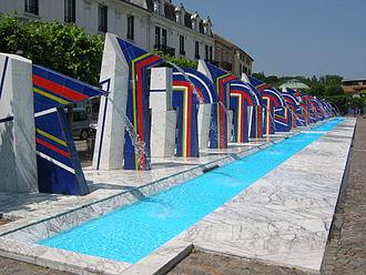 Contrexéville - Place des fontaines in Contrexéville