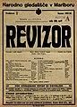 Plakat za predstavo Revizor v Narodnem gledališču v Mariboru 15. oktobra 1927.jpg