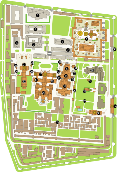 Plan of the Grand Palace, Bangkok (with labels).svg