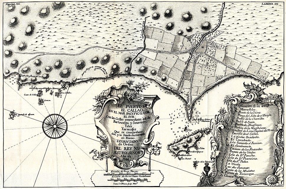 Plano del El Callao en 1744 - AHG