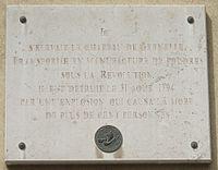 Gedenkstein in Paris