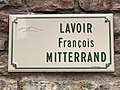 Plaque Lavoir François Mitterrand - Solutré-Pouilly (FR71) - 2021-03-02 - 1.jpg