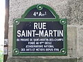 Plaque rue Saint-Martin à Paris.JPG