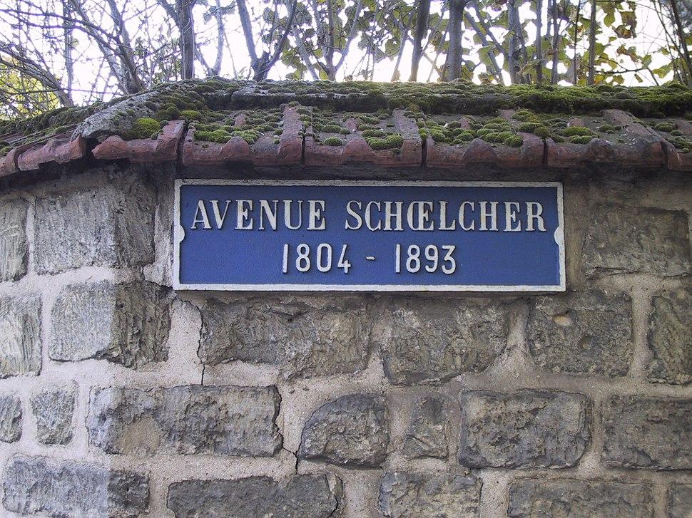 Plaque rue Schoelcher