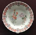 Plate, c. 1730, Du Paquier factory, hard-paste porcelain, overglaze enamels, gilding - Gardiner Museum, Toronto - DSC01021.JPG
