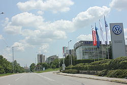Pleven entrance from Sofia.JPG