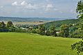 Pohled na obec ze silnice na Kořenec a Pohoru, Šebetov, okres Blansko.jpg