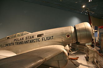 Northrop Gamma - The Polar Star on display at the National Air and Space Museum