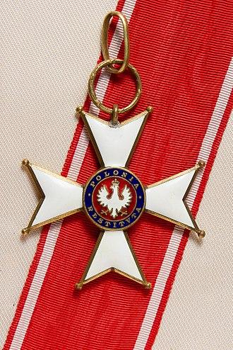 Order of Polonia Restituta - Image: Polonia Restituta Commander's Cross pre 1939 w rib