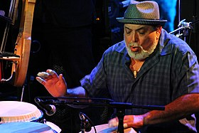 Poncho Sanchez performing at Jazz Cruise 2014.jpg