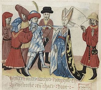 Maria of Brabant, Duchess of Bavaria - Execution of Maria as depicted by Jan van Boendale