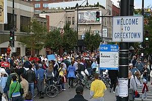 Greek-American cuisine - Restaurants at Greektown, Chicago