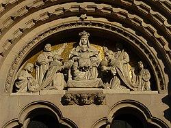 Portal główny kościoła pw. Zwiastowania NMP w Inowrocławiu - Pokłon Trzech Króli