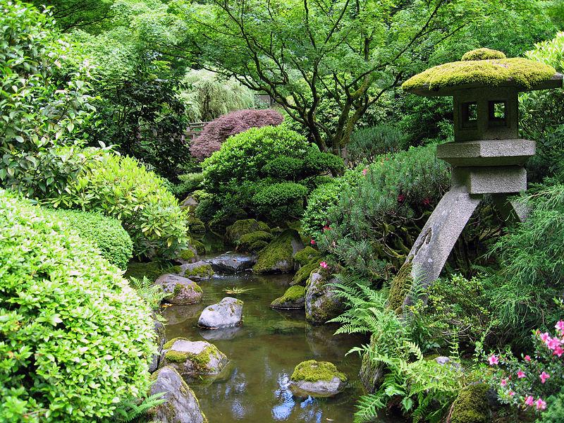 File:Portland Japanese garden creek.jpg
