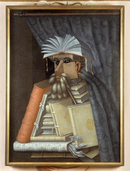 Porträtt. Karikatyr. Bibliotekarien. Guiseppe Arcimboldo - Skoklosters slott - 73759