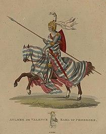 Portrait of Aymer de Valence, Earl of Pembroke, A.D. 1315 (4672100).jpg