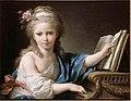 Portrait présumé de Joséphine, fille de Bergeret de Grancourt, touchant le piano-forte.jpg