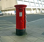 Post box at Mulberry Street, Liverpool.jpg