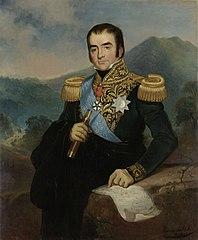 Posthumous Portrait of Herman Willem Daendels, Governor-General of the Dutch East Indies - Rd Saleh