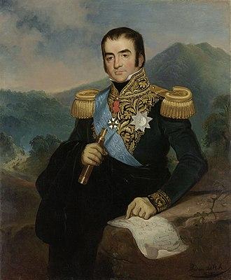 Herman Willem Daendels - Posthumous portrait by Raden Saleh
