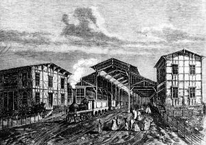 History of rail transport in Poland - The station of Poznań in 1863