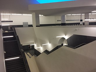 Municipio (Naples Metro) - Image: Pozzo della stazione Municipio della linea 1 della metropolitana di Napoli