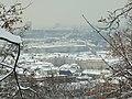 Praha, Smíchov, Kinského zahrada, zasněžený Smíchov II.JPG