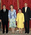 President Arroyo with the King and Queen of Spain (2006).jpg