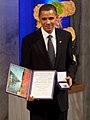 President Barack Obama with the Nobel Prize medal and diploma.jpg