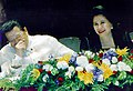 President Estrada and the First Lady share a light moment (2000).jpg